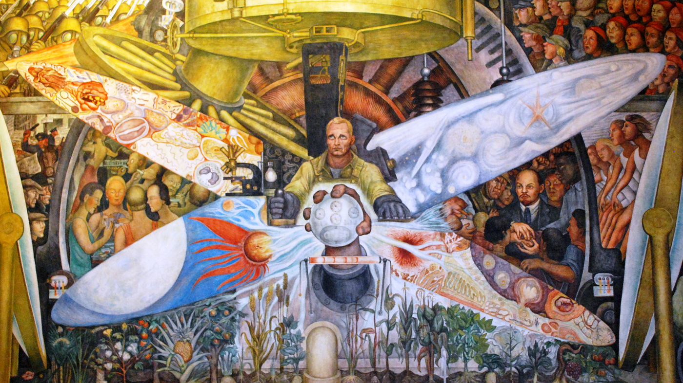 Daughters back an artful end to the rivera rockefeller for Mural diego rivera