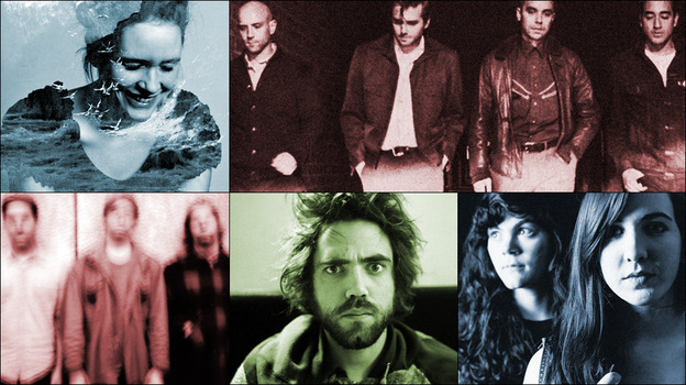 Top row, left to right: Sóley, Patrick Watson; Middle row: Metz, Summer Cannibals; bottom: Lord Huron (Courtesy of the artists)