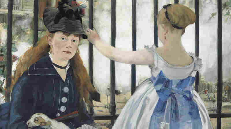 Edouard Manet's 1873 oil on canvas, The Railway, is on view at the Norton Simon Museum in Los Angeles until March 2. It is on loan from the National Gallery of Art in Washington, D.C.