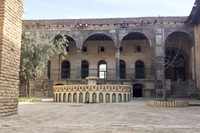 A dry fountain in an unused courtyard of the Citadel in Erbil.