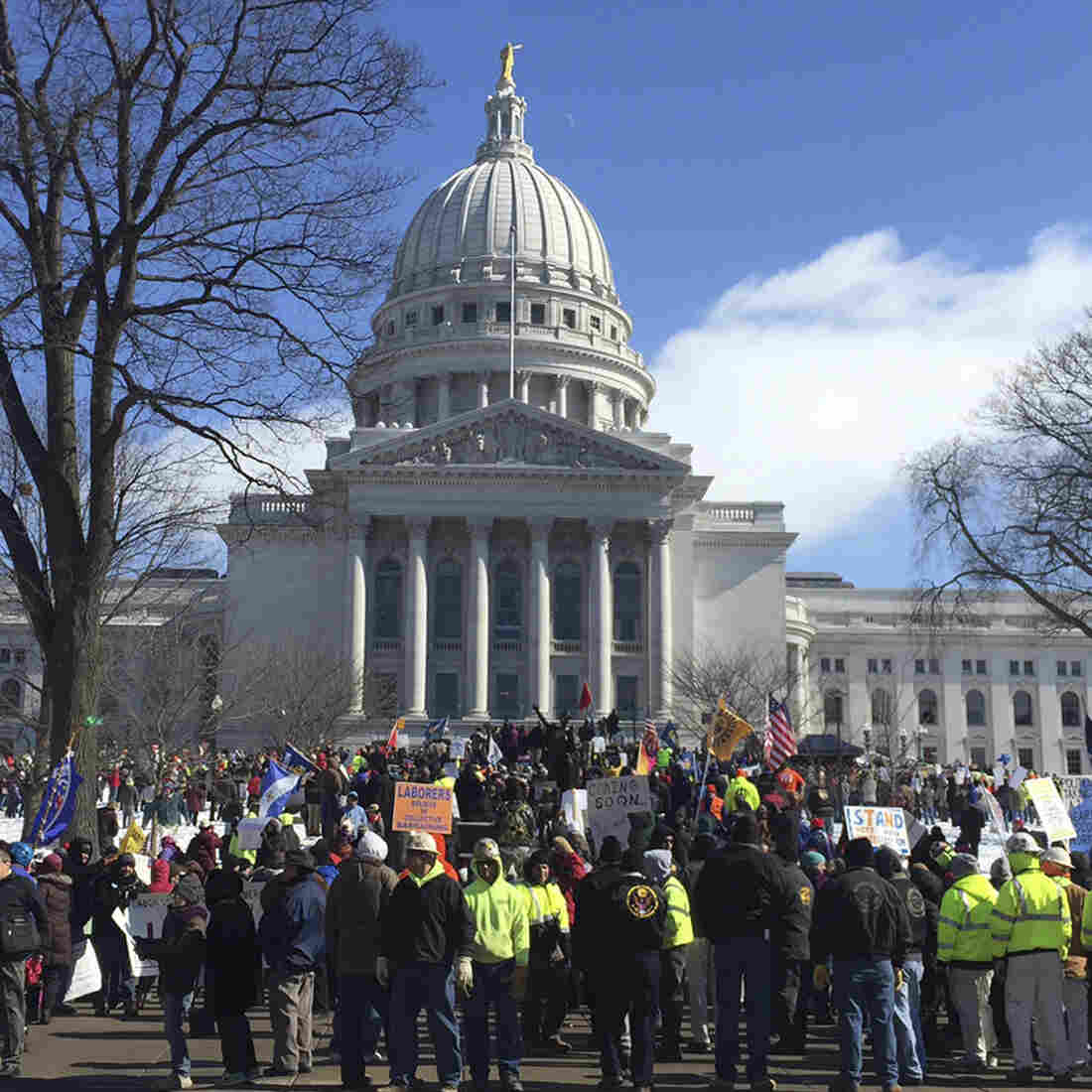 Gov. Scott Walker Goes Head-To-Head With Labor Over Right-To-Work