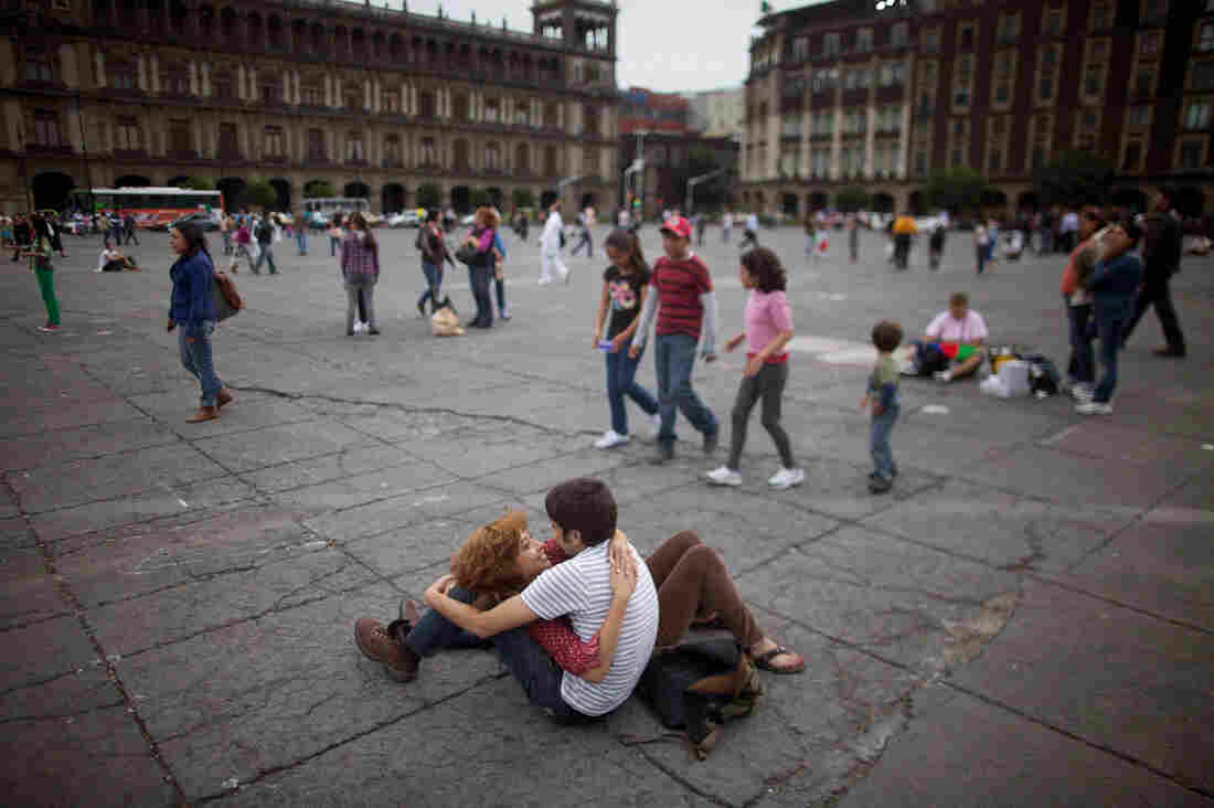 A scene in Mexico city affirms that Latin America is a land of openly expressed affection.