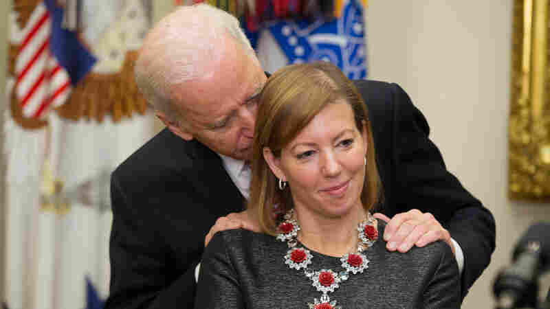Vice President Joe Biden was criticized for coming up from behind and getting too close to Stephanie Carter at her husband's swearing-in ceremony as secretary of defense.