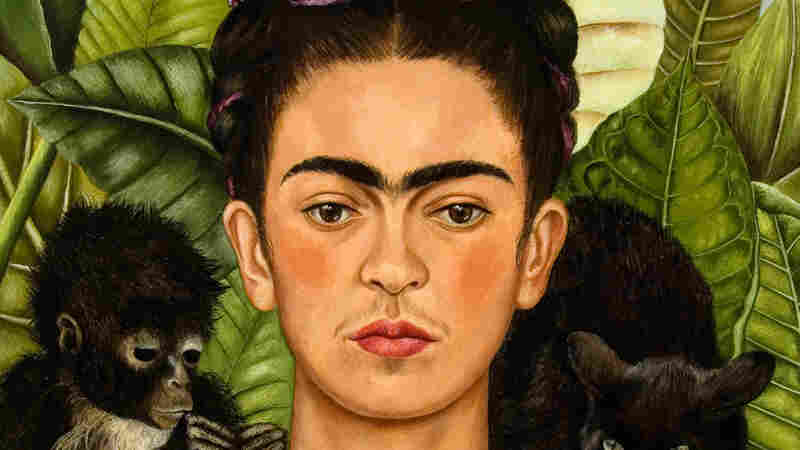 "Frida Kahlo's 1940 painting entitled ""Self-Portrait with Thorn Necklace and Hummingbird."""