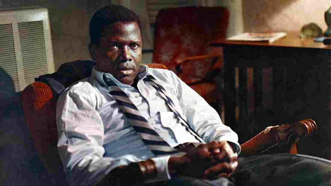 Sidney Poitier smolders — and swelters — in In the Heat of the Night.