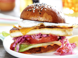 Chef Marcus Samuelsson first fell in love with a version of this burger at a tiny fish shack in Barbados.
