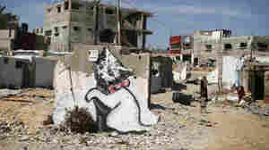 Banksy's Murals Turn Up In Gaza Strip
