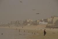 The Harmattan haze can become so dense in Dakar, Senegal, it dims the sun and grounds flights.
