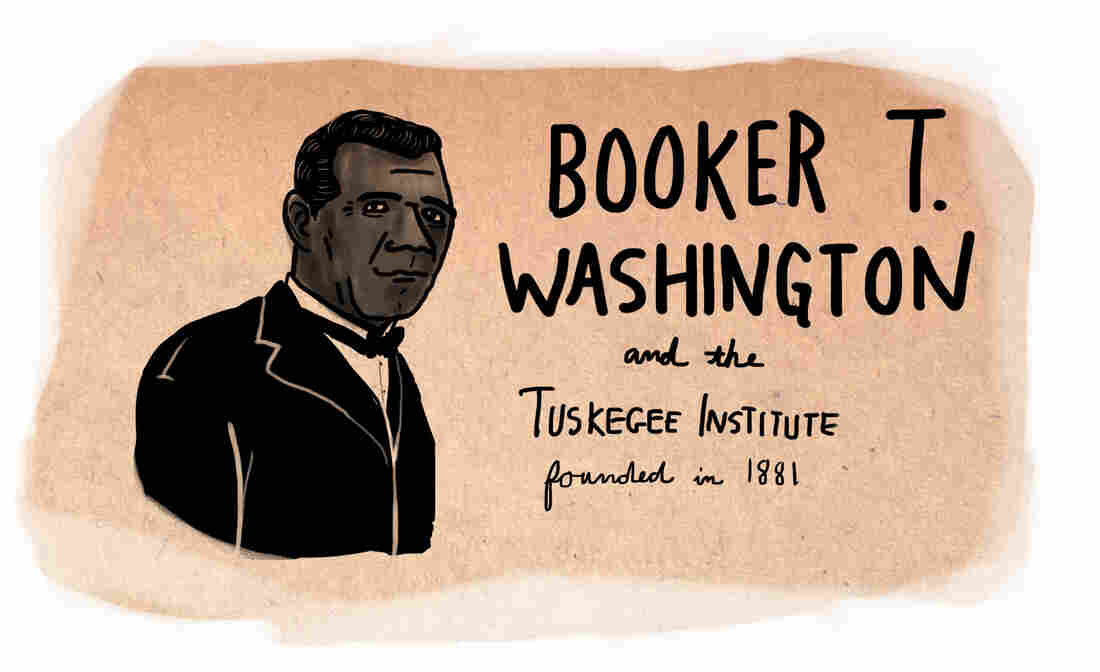 Booker T. Washington founded the Tuskegee Institute in 1881.
