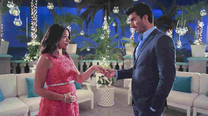 Gina Rodriguez stars alongside Justin Baldoni in The CW's Jane the Virgin.
