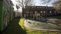 A playground is seen in London, outside an address where Kuwaiti-born London computer programmer Mohammed Emwazi is believed to have lived. Emwazi has been identified as masked ISIS militant