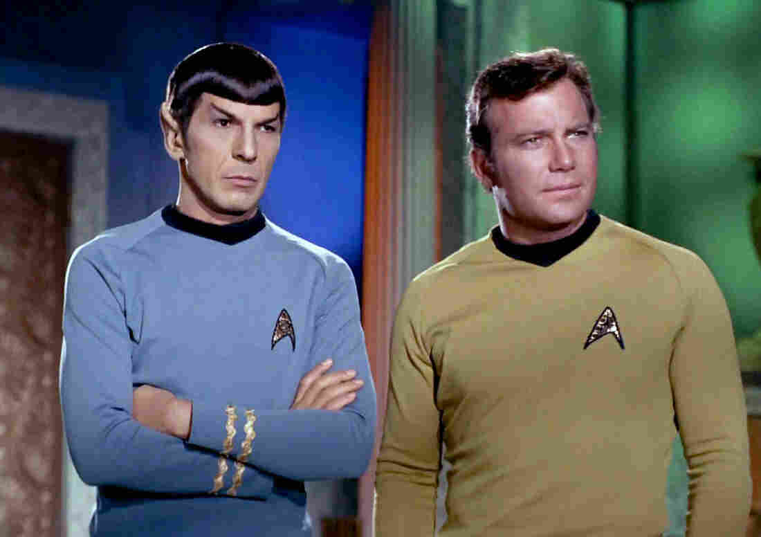 While Leonard Nimoy became famous as Star Trek's Mr. Spock, he was conflicted about the role. He later came to embrace it. He's shown here with actor William Shatner as Captain James T. Kirk.
