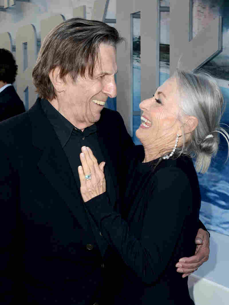 Leonard Nimoy and wife Susan Bay Nimoy arrive at the premiere of Paramount Pictures' Star Trek Into Darkness in Hollywood, Calif., in 2013.