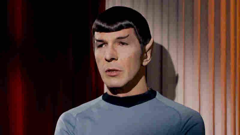 "Leonard Nimoy as Mr. Spock in the Star Trek episode ""Plato's Stepchildren"" in 1968."