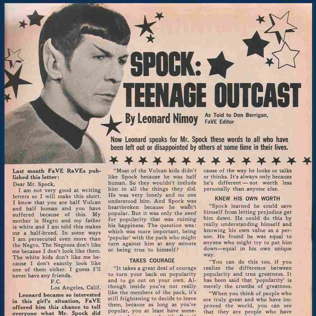 Leonard Nimoy's Advice To A Biracial Girl In 1968