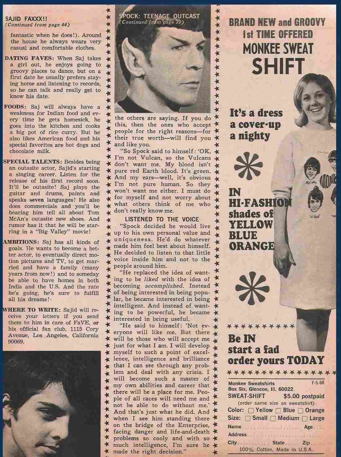 """Nimoy wrote to the young girl that Spock """"decided he would live up to his own personal value and uniqueness."""""""