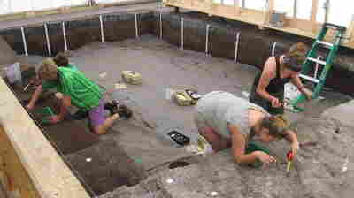 Students Patrick Rohrer, Sarah Warthen, Alix Piven and Lauren Urane are led by Mercyhurst University Archeologist Andy Hemmings. Their project has picked up where Florida's State Geologist Elias S