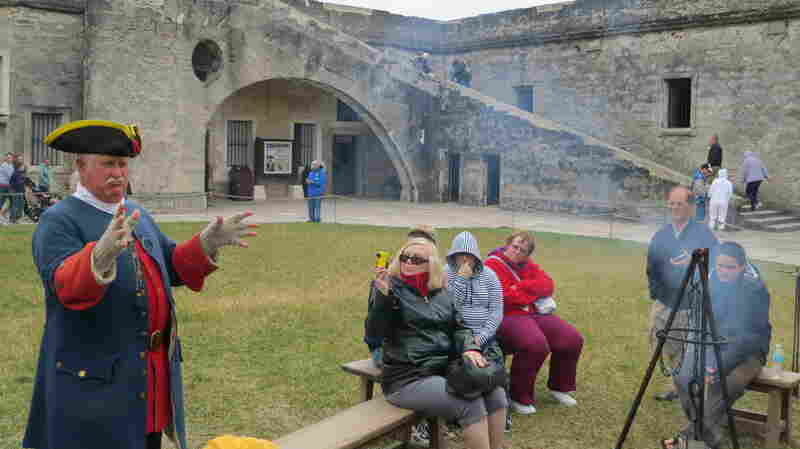 Park Ranger Mike Evans at the Castillo de San Marcos says the Spanish were roping cattle and pruning their citrus groves in St. Augustine before the British even set sail for Jamestown.