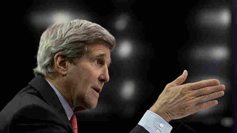 Secretary of State John Kerry testifies on Capitol Hill in Washington, on Wednesday.