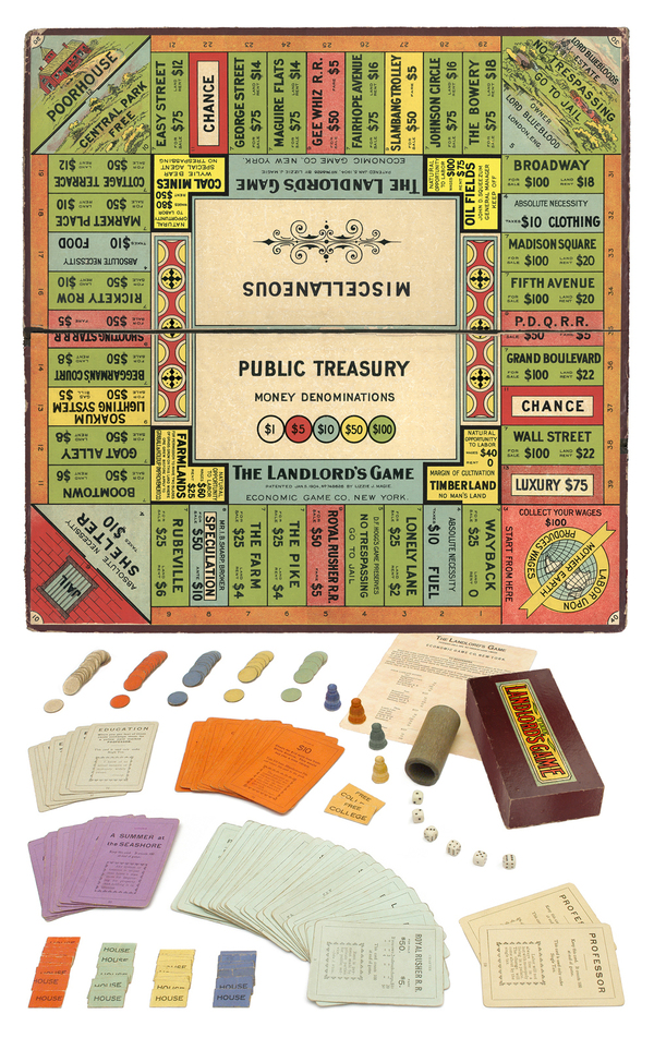Lizzie Magie's Landlord's Game was an argument against the concentration of wealth.