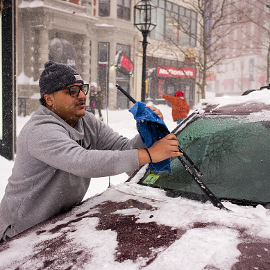 Image for Not Clearing The Snow Off Your Car Before Driving Could Cost You