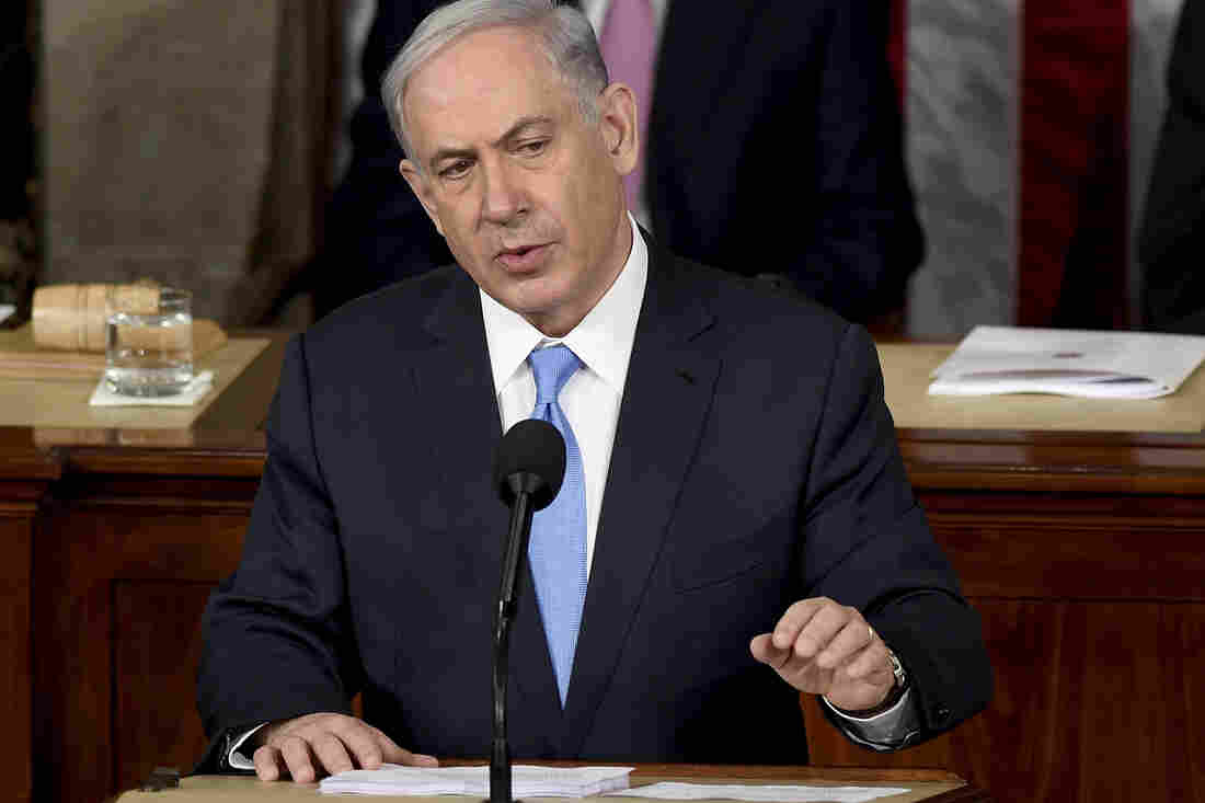 "Israeli Prime Minister Benjamin Netanyahu speaks before a joint meeting of Congress on Capitol Hill in Washington on Tuesday. He called the deal the U.S. and its allies are negotiating with Iran ""very bad."""