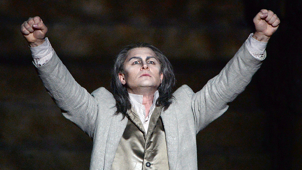 Latvian bass-baritone Egils Silins portrays The Flying Dutchman, one of opera's most disturbing bachelors, in Orange, France in 2013.