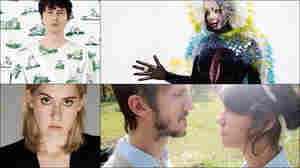 Clockwise from upper left: Panda Bear, Björk, Lowland Hum, Torres