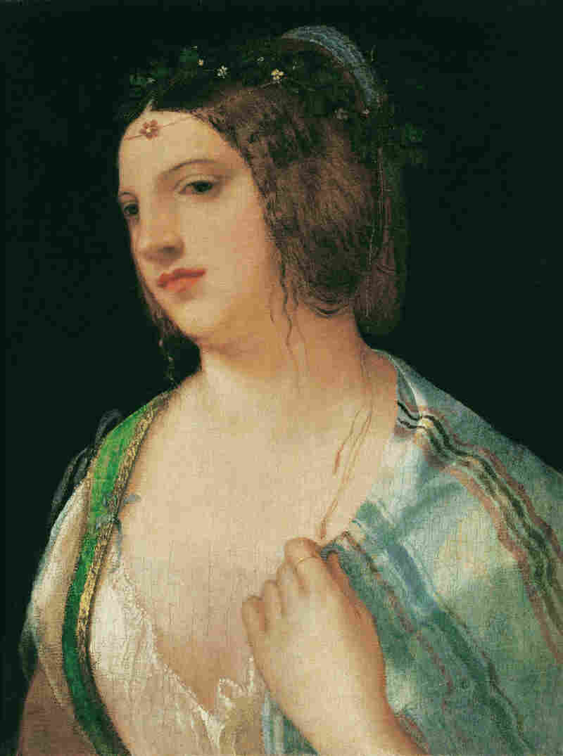 There was — and still is — debate as to whether Bust Portrait of a Courtesan (circa 1509) really is a Giorgione.