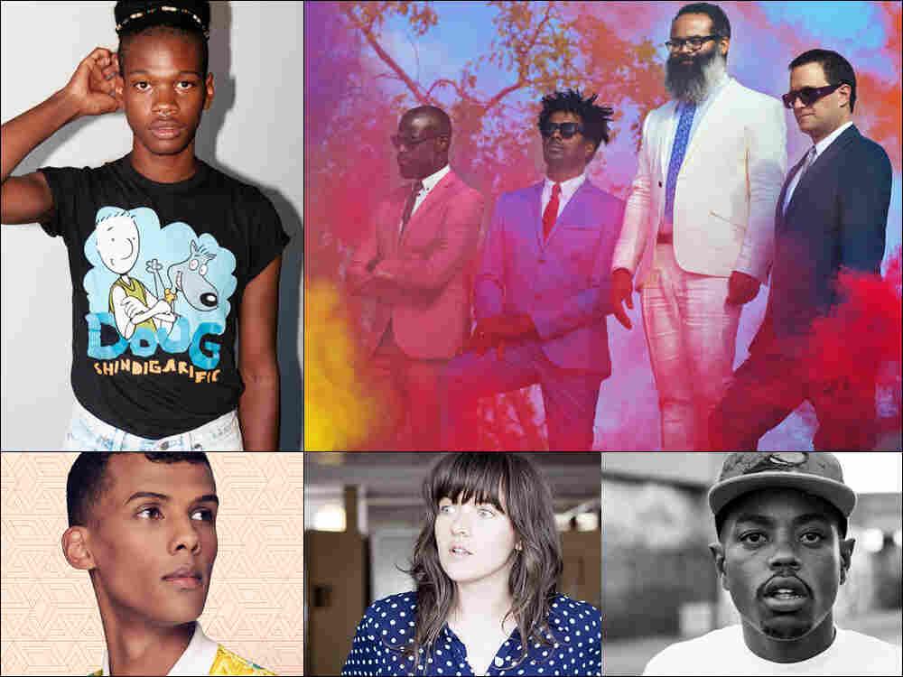 Clockwise from upper left: Shamir, TV On The Radio, Boogie, Courtney Barnett, Stromae