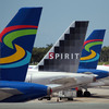 Spirit Airlines planes sit on the tarmac at the Fort Lauderdale International Airport on June 14, 2010 in Fort Lauderdale, Florida. (Photo by )