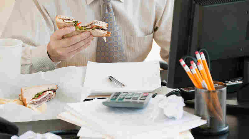 """Eating at your desk day after day? Research suggests """"staying inside, in the same location, is really detrimental to creative thinking,"""" says management professor Kimberly Elsbach."""