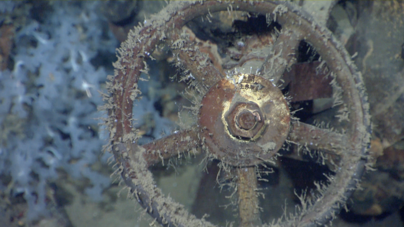 A valve on the Musashi.