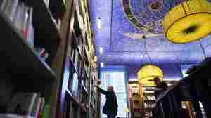 Fans are celebrating World Book Day Thursday. Here, a man browses through books at the Albertine, a French bookstore and library at the French Embassy in New York.