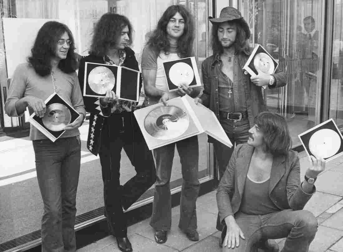 """The British rock band Deep Purple, shown here in 1971, wrote the hit song """"Smoke on the Water,"""" after watching the casino in Montreux, Switzerland, go up in flames later that year. The casino caught fire during a Frank Zappa concert."""