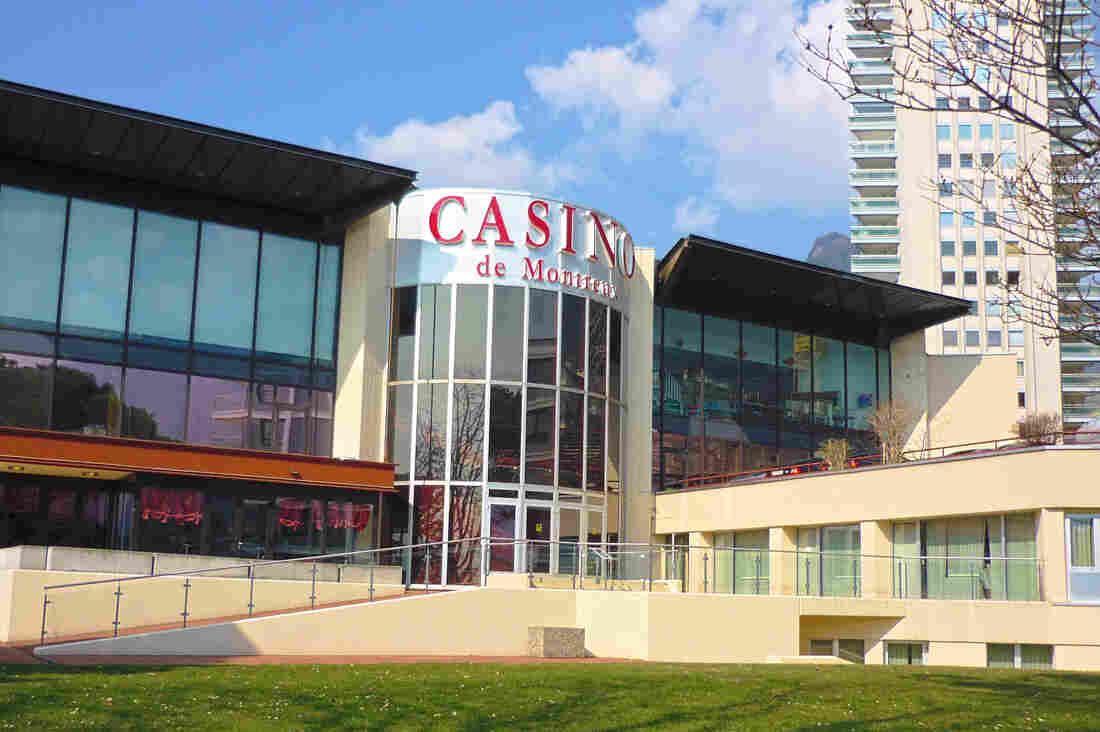 The rebuilt Montreux Casino, which burned down in 1971.