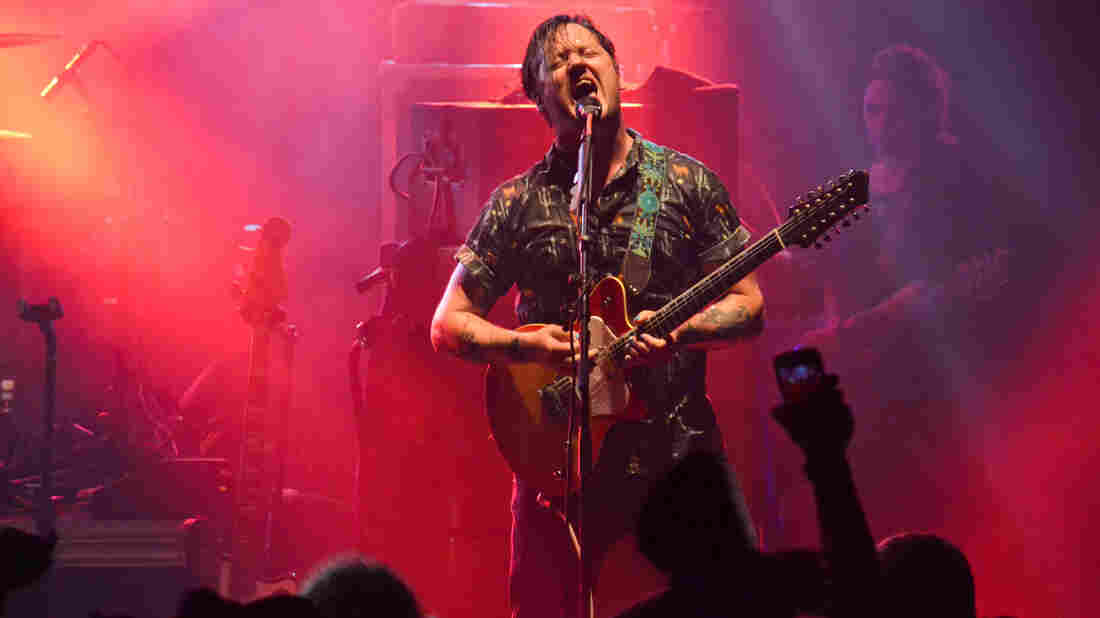 Isaac Brock performs with Modest Mouse.