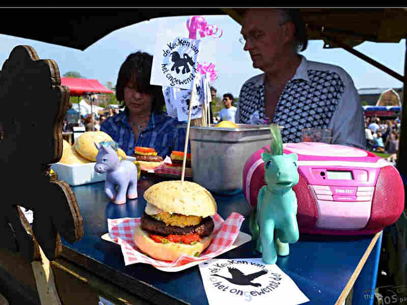 The food truck sells about 100 My Little Pony Burgers a day at festivals.