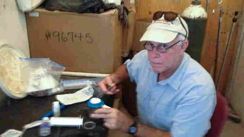Fred Schilling has made many trips to Haiti to fix pipes and train Haitians.