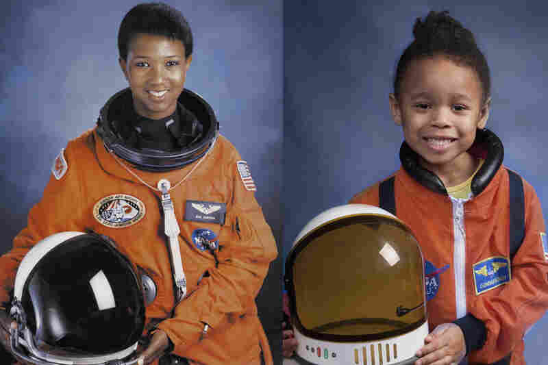 "Lily as Mae Jemison, ""the first African-American woman to get accepted in the NASA astronaut training program. She was also the first to go into outer space, aboard the Endeavour in 1992."""