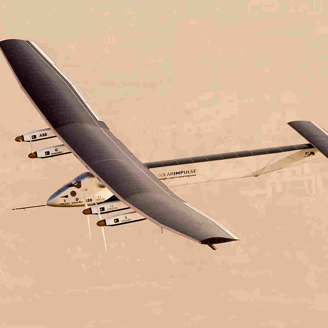 Solar-Powered Airplane Embarks On Attempt To Fly Around The World