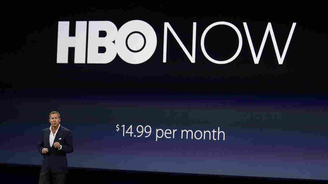Richard Plepler, CEO of HBO, talks about HBO Now during an Apple event Monday in San Francisco.