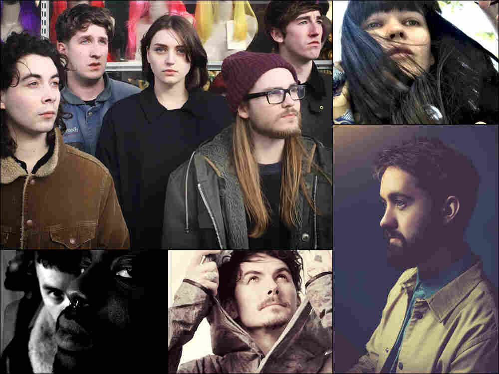 Clockwise from upper left: Joanna Gruesome, Trish Keenan of Broadcast, Conor O'Brien of Villagers, Eskmo, Young Fathers
