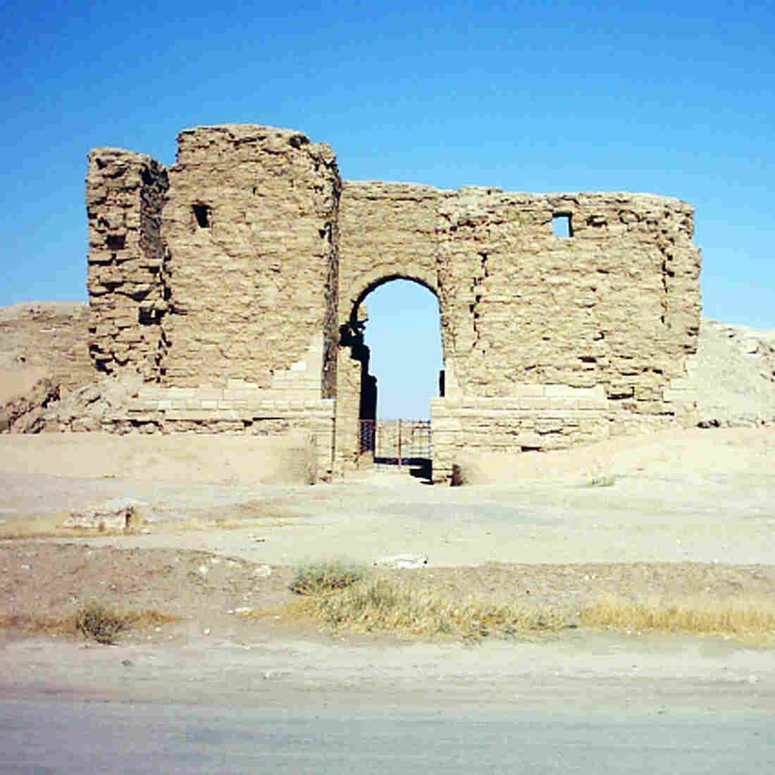 Dura Europos, a Roman walled city in eastern Syria, dates back to 330 B.C. The main gate is shown here in a photo from 2010. It's one of the many important archaeological sites militants of the self-styled Islamic State have ransacked and damaged.