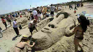 Tybee Island, Ga., site of an annual sand arts festival, is a popular tourist destination. Local officials worry about a federal proposal to open areas off the coast to oil and gas development.