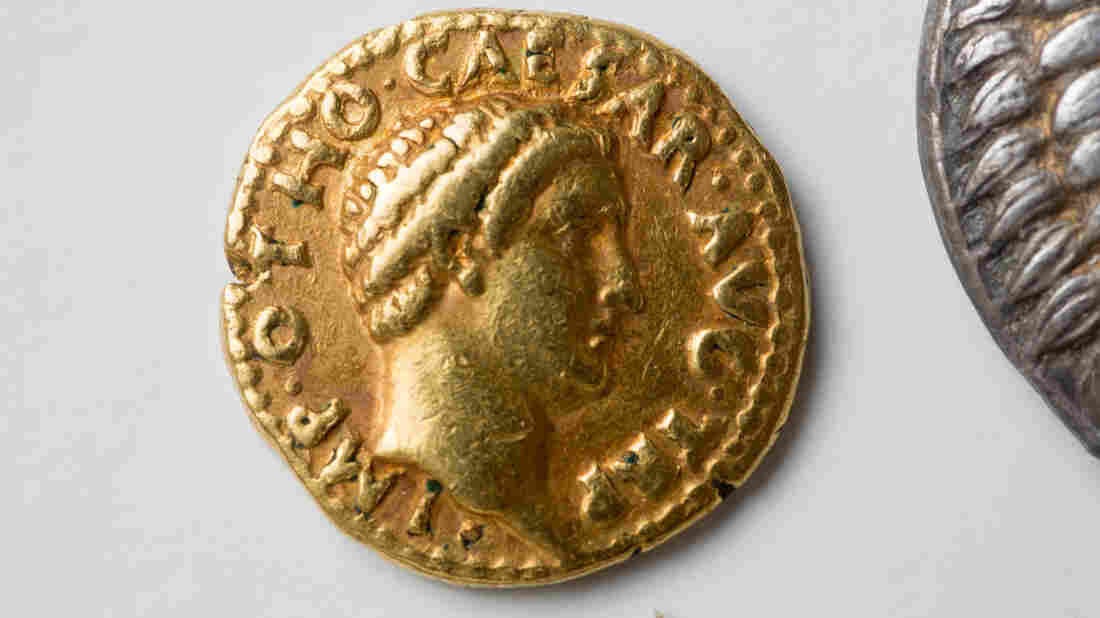 """After assistant professor Philip Kiernan at the University at Buffalo asked specialists to look at the school's rare coins, they realized the set included a """"remarkably rare"""" gold coin from the emperor Otho's short reign."""