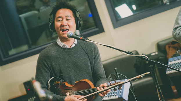 Kishi Bashi performs live on World Café. (WXPN)