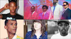 Clockwise from upper left: Shamir, TV On The Radio, Boogie, Courtney Barnett, Stromae