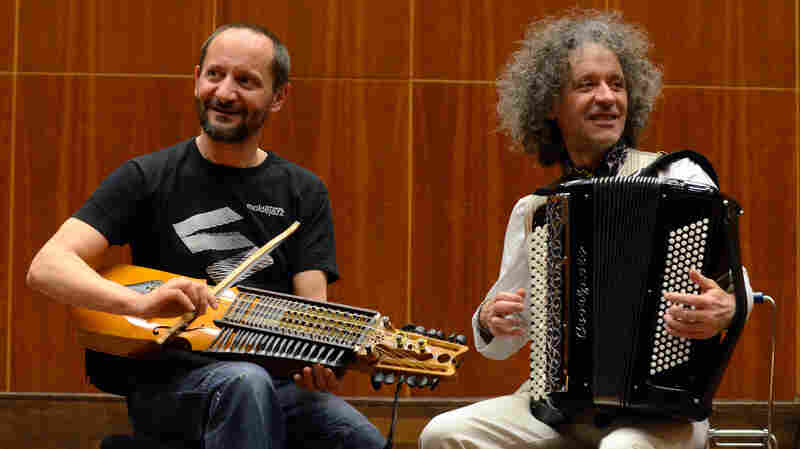 Marco Ambrosini and Jean-Louis Matinier, who respectively hail from Italy and France, are among Betto Arcos' favorite musicians currently testing the sonic limits of the accordion.