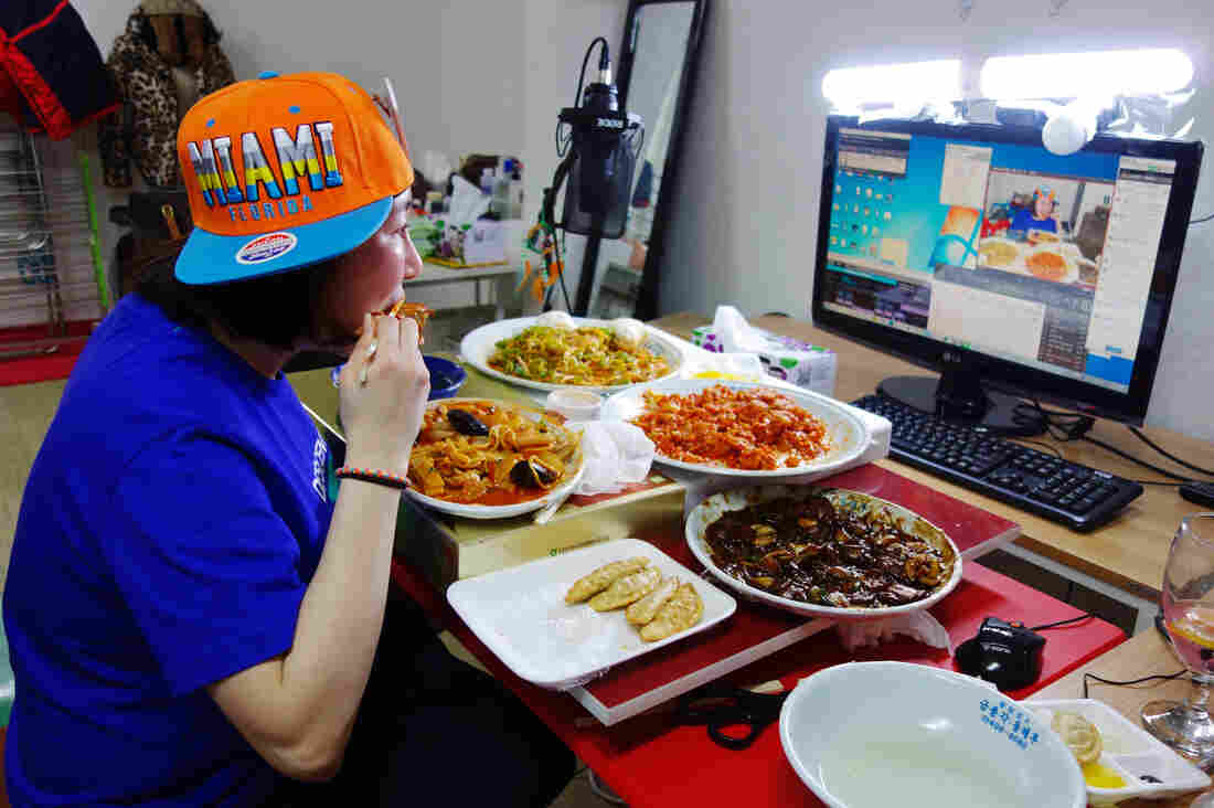 """Rachel Ahn, who goes by """"Aebong-ee,"""" is among the top 100 most-watched mukbang stars in South Korea."""